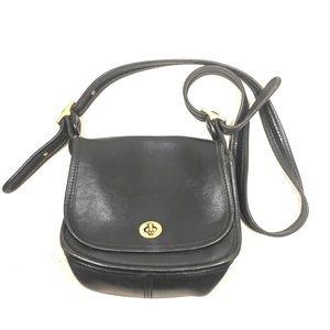 Coach Trail Crossbody Bag Black Leather 9965